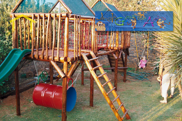 Jungle gym directory nelspruit get quotes for Wooden jungle gym plans